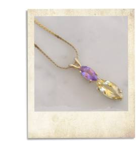 Amethyst and beryl pendant - click for details