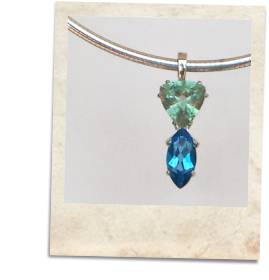 Fluorite and blue topaz pendant necklace - click for details
