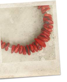 Coral and sterling silver necklace - click for details