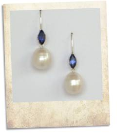Iolite and pearl earrings - click for details