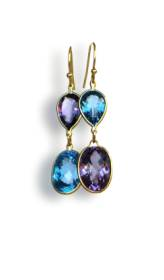 Amethyst and blue topaz earrings - click for details