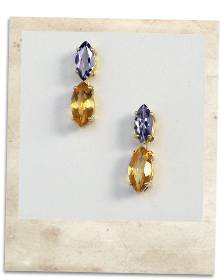 Iolite and citrine earrings - click for details