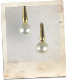 Pearl and rolled gold earrings - click for details