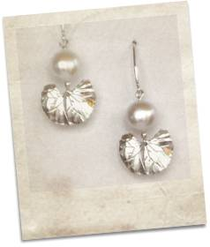 Pearl and sterling silver earrings - click for details