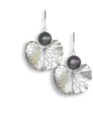 Black pearl and sterling silver earrings - click for details