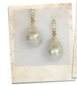 Large baroque freshwater pearl earrings - click for details