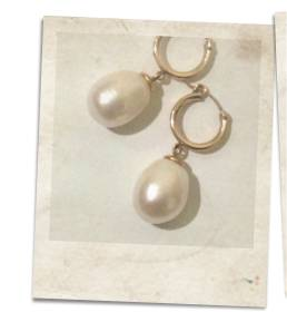 Pearl and 14kt rolled gold earrings - click for details