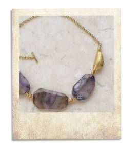 Agate and gold necklace - click for details
