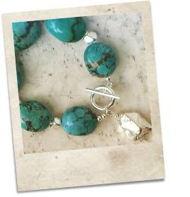 Turquoise and sterling silver bracelet - click for details