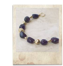 Amethyst and gold bracelet - click for details