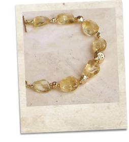 Citrine and gold bracelet - click for details