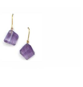 Amethyst and 22kt gold vermeil earrings - click for details